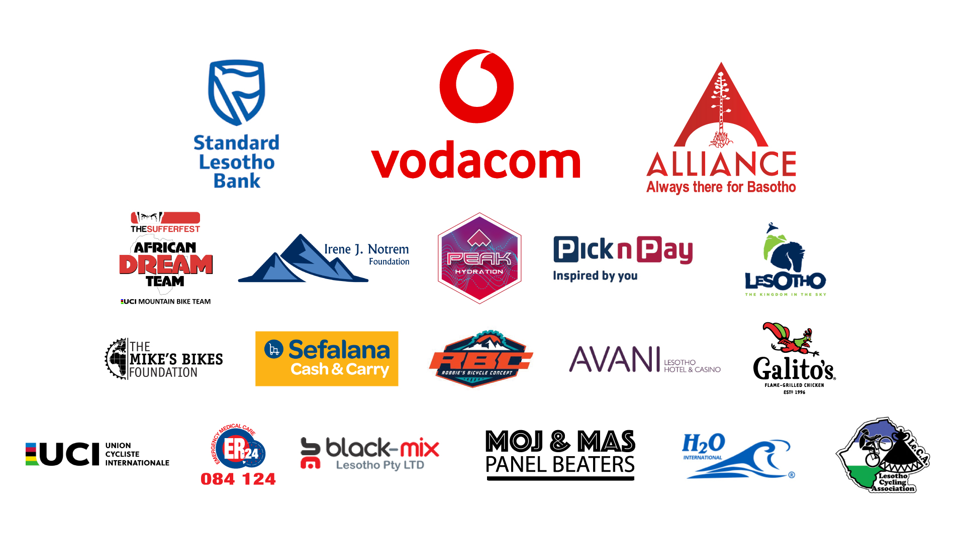 Lesotho Sky Sponsors 2018